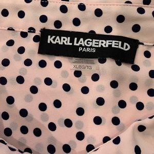 Karl Lagerfeld Tops - EUC Karl Lagerfeld Paris XL Magdalyn Pearl Detail